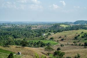 Utsikt över östra delarna av Mindanao-regionen i Filippinerna.