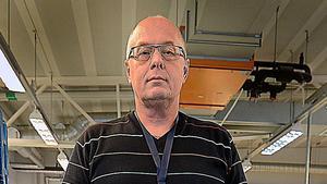 Anders Öhman, terminalområdeschef på Postnord i Sundsvall.