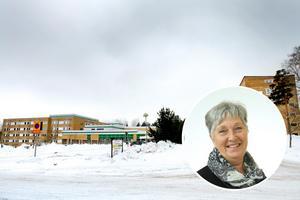 Här på Sandvikens sjukhus vill moderaten Ann-Marie Bergström öppna mellanvårdsplatser. Foto: Jenny Lundberg och Region Gävleborg