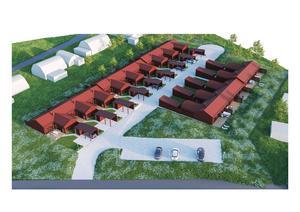 Bygglov har beviljats för 14 nya parhus i Sundborn. Foto: Pressbild
