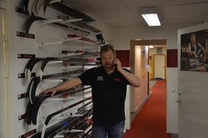 Anders Huss i sin hemmaborg, NHK-Arena.