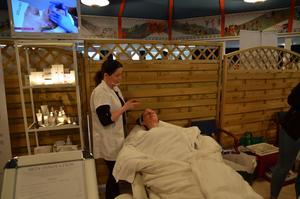 Prova-på spabehandlingar hölls också, under Hälsans dag i Avesta