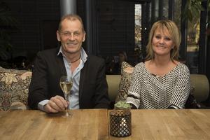 Stefan Palmér, ägare av Fagersta montage & industriteknik, med sin partner Kaarina Pernbratt.