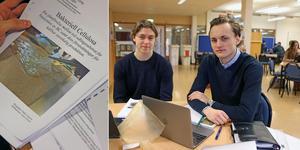 Simon Åstrand och Jacob Jannering på Nynäshamns gymnasium har gått till final i Unga forskares tävling.