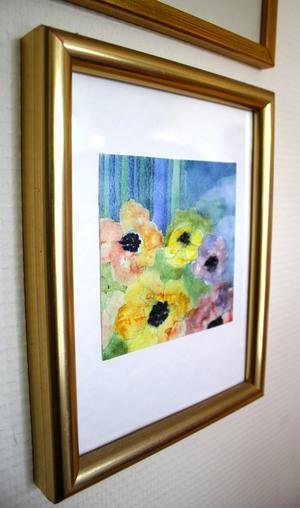 Akvarellmålningen har Birgitta gjort.