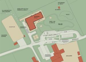 Än så länge finns det bara en idéskiss för den nya förskolan som ska byggas i Söderås. (Bild: AgnasArk)