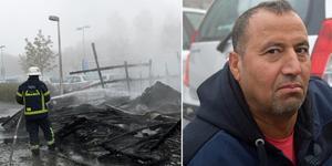 Khalid Darwish lånade en bil – som skadades i branden.