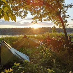 Fin kväll i tält, denna är från Ungern.