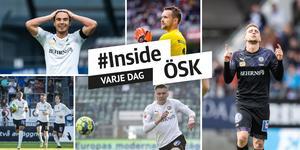 Nordin Gerzic, Oscar Jansson, Carlos Strandberg, Jake Larsson och Filip Rogic. Foto: TT och Bildbyrån