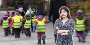 Det är anmärkningsvärt att barnomsorgen har så konsekvent låg status, resonerar NT:s Ellinor Gotby Eriksson. Foto: TT och Jesper Jäger-Ärlestad