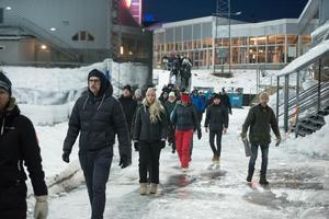 Knappt 200 personer såg derbyt på plats på Gärdehov.