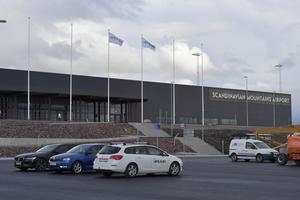 Den nya flygplatsen i Sälen, som stod klar förra året.