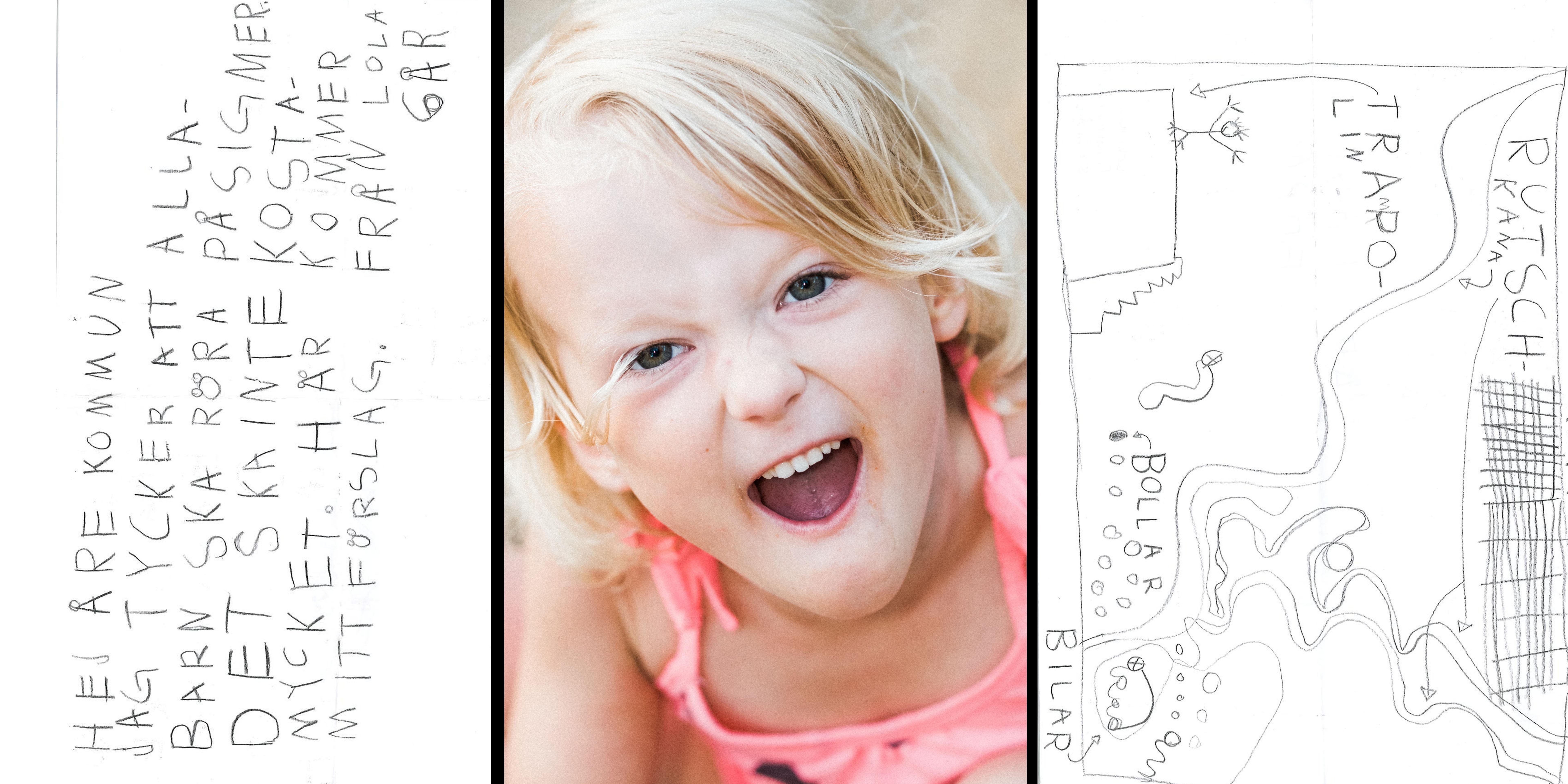 """Sexåriga Lola skickade in teckning som medborgarförslag – vill att unga ska röra på sig:   """"Kommer ha fortsatt dialog"""""""