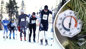 Vädret ställer till med problem för arrangörerna av Östersund Ski Marathon. Foto: ÖP/TT (Montage)