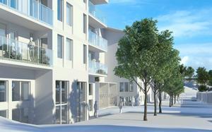 En ny kvartersgata ska byggas, och till de nya husen ska också ha en rad
