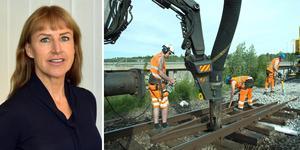 Trafikverket kommer göra flera banarbete under sommaren som påverkar tågtrafiken i Västernorrland. Bilder: Trafikverket och arkivbild