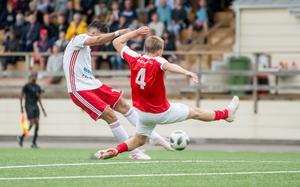 Skottet som gav HuFF ledningen med 1–0 i 26:e matchminuten.