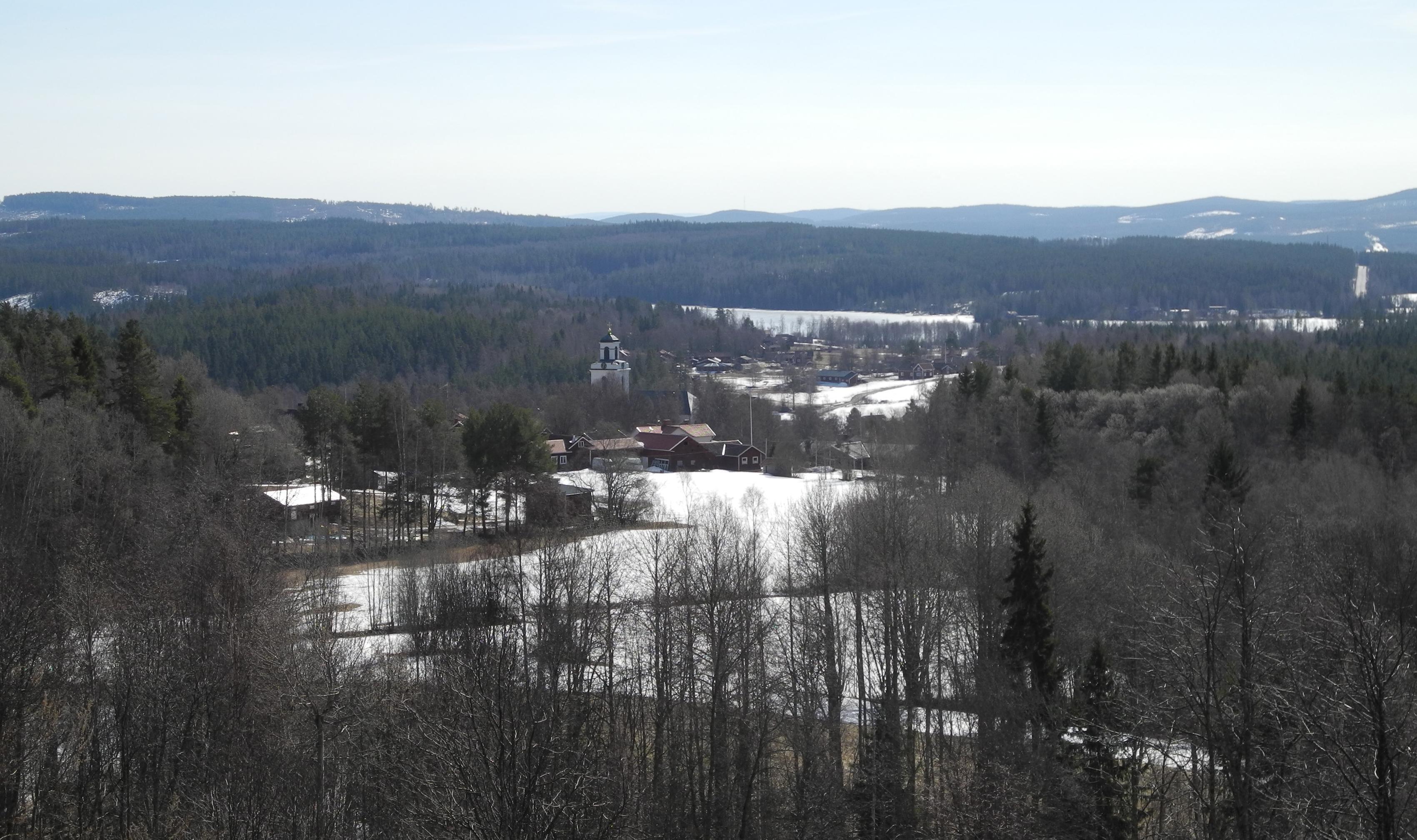 Bjursås, mellan Falun och Rättvik.