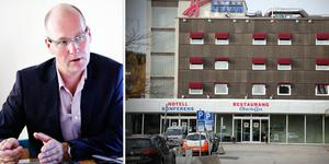 Kramfast vd Per Eriksson berättar att försöken att sälja fastigheten med hotell Kramm har lagts på is.