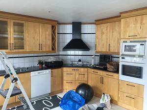 Foto: Privat. Köket hade ett helt annat utseende när paret köpte huset.