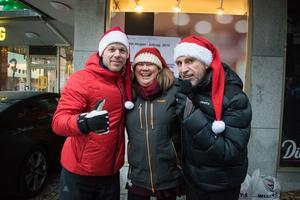 Arrangörerna Daniel Tynell, Anki Kjellberg och Roberto Vacchi var väldigt glade över uppslutningen.