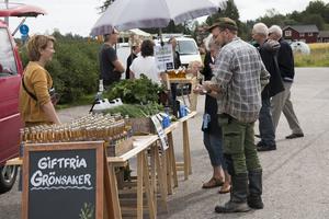 Under landsbygdsdagen fanns också en liten marknad, delvis med lokala varor.