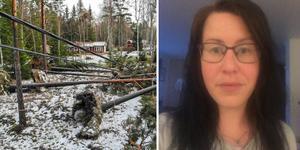 Jenny Rödin, som bor i Snesslingby, har fått olika besked om hur mycket ersättning hon ska få från Vattenfall efter stormen Alfrida.