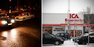 På kvällar och helger har parkeringen vid Ica i Kramfors  blivit en populär samlingsplats för ungdomar. Sp populär att det blir problem med brist på parkeringsplatser för kunder och nedskräpning. Foto; Lars Dafgård/Anders Lidén