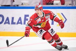 Emil Bejmo, som lånades ut till Södertälje under slutdelen av förra säsongen, är en av två spelare som har kontrakt som gäller även i Hockeyallsvenskan. Foto: Daniel Eriksson/Bildbyrån