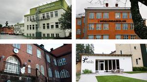 Nivrenaskolan och Höglundaskolan har många utrikesfödda barn och elever med föräldrar utan högre utbildning. På Engelska skolan och Heliås är det tvärtom.