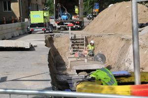 Här är det stora arbetet på Floragatan.