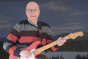 Göran Melin underhöll med 60- och 70-talsmusik. Foto: Sölve Madsén
