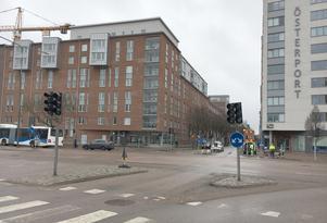 Korsningen Stora gatan/Östra Ringvägen 2019.
