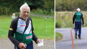 """Corona stoppar inte Arne, 92, från orienteringen – ger livsglädje under pandemin: """"Ute i skogen går det jättefint"""""""