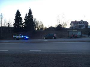 Olyckan skedde mellan en motorcykel och personbil.