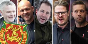 Fem av tränarna som finns med på listan nedan. Foto: Bildbyrån//Hockeypuls.