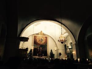 Gustafs kyrka i adventstid. Foto: Minna Heimo/Läsarbild