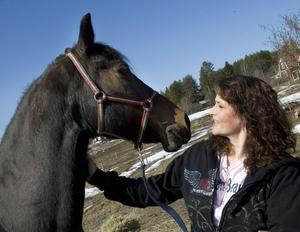–Morganhästar är väldigt tillgivna, de kräver mycket uppmärksamhet, berättar Alecia Irons-Lindqvist.