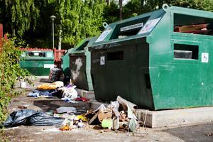 Återvinningsstationen i Saltskog var allt som oftast skräpig – och är numera stängd.