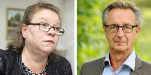 Denise Norström (S) och Tomas Högström (M).