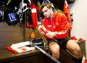 Jordan Boucher har fyra matcher kvar på sin avstängning. Bild: Johan Bernström/Bildbyrån