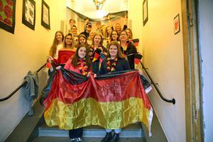 Glada elever i Orsa, som valt tyska.
