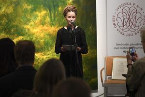 Vi vill tacka Amanda Lind för hennes rakryggade hållning och försvar för yttrandefriheten!, skriver Miljöpartiet de Gröna i Falun. Foto: TT