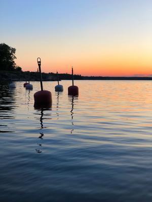 Godnattsaga i en bild från Gräddö hamn. Foto: Marie Mattsson