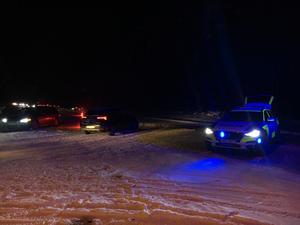 Trafikolycka på E14 mellan Bjässhammarn och Vattjom.