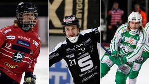 Joakim Svensk, Christoffer Edlund och Patrik Sjöström, tre spelare som alla är bland de som tagits ut flest gånger i Veckans lag.
