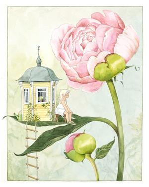 Det stora trädgårdsintresset märks i flera av Lena Andersons böcker. Pressbild.