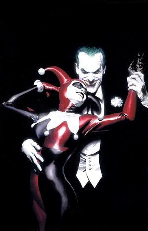 Harley Quinn och Jokern. Teckning av Alex Ross.
