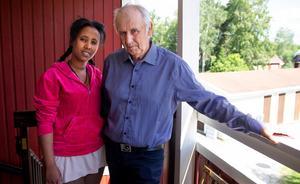 – Det kändes väldigt bra att träffa honom, säger Luwam Fkadu.