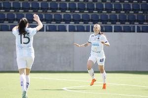 Ida Pettersson blev tvåmålsskytt när Gefle fick med sig en skön poäng från Västerås.